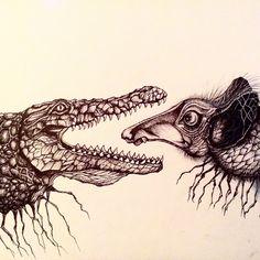 #art #arigart #illustration #instaartist #inkdrawing #indianink #instaink #ink #poster #aligator #painting #picture #creature #graphicart #graphic #blackandwhite #artsy #artist #drawing #sketch #графика #blackwhite #иллюстрация #алигатор #чернобелое #крокодил #рисунок #существо #искусство