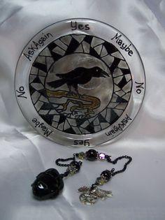 Gothic Raven and Black Onyx   Pendulum Divination Set by Eliora