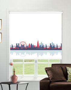 CityScape Rule Britannia Blackout Roller Blind - Direct Order Blinds UK  Could then have teal coloured walls