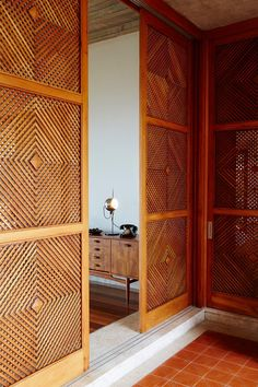 Fulfilling my obsession with wall dividers is this beauty - Brazilian Brutalism: Chez Georges Private Villa in Rio de Janeiro Decor, Retro Home Decor, House Design, Door Design, Interior, Windows And Doors, Modern, House Interior, Hotels Design