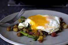 Spring Asparagus Pancetta Hash from Smitten Kitchen.