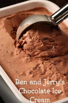 Ben and Jerry's chocolate ice cream from CopyKat.com.  Your family will love this recipe.