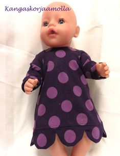 paitakaava nukelle Doll Sewing Patterns, Barbie Clothes, Baby Dolls, Crafts For Kids, Projects To Try, Cold Shoulder Dress, Handicraft Ideas, Diy, Fashion