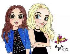 Luna y Sabrina Carpenter Best Friend Drawings, Bff Drawings, Disney Drawings, Cartoon Drawings, Cool Drawings, Merian, Image Fun, Pony Drawing, Sabrina Carpenter