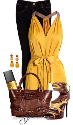 amarillo y jeans