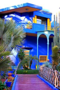 Yves Saint-Laurent's Jardin Majorelle, Marrakech, Morocco Moroccan Design, Moroccan Style, Moroccan Colors, Beautiful Homes, Beautiful Places, Mekka, House Colors, Interior Inspiration, Color Inspiration
