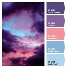 New Bedroom Wallpaper Purple Design Seeds 47 Ideas Color Schemes Colour Palettes, Colour Pallete, Color Combos, Sunset Color Palette, Twilight Sky, Color Palette Challenge, Design Seeds, Color Blending, Grafik Design