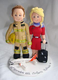 Firefighter & Airhostess / Flight attendant by ALittleRelic