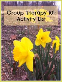 Adult Group Therapy Ideas