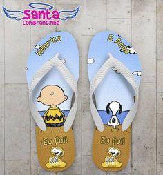 Chinelo Festa Infantil Snoopy Personalizado