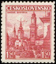 Bélyeg: Banská Bystrica (Csehszlovákia) (Kastélyok, tájak és városok) Mi:CS 352,Sn:CS 219,Yt:CS 312,AFA:CS 215,POF:CS 305