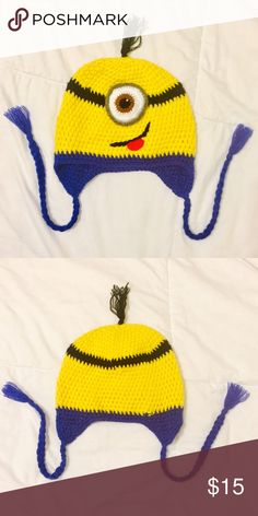 BOGO 50% off Kids Minion Beanie Minion Beanie  - unfortunately my so  doesn't  like wearing hats/beanies.   It was handmade- no sizing but I think it fits Kids 5-9Y.    Questions? Please ask prior to purchasing. Bundle & Save 🛍 Accessories Hats