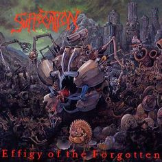 Dan Seagrave early 90's death metal cover art. so crazy detailed.