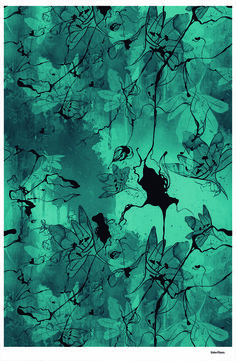 I love the use of free flowing lines. ink. yes.  Estampa Entre Flores- Desenvolvimento Cecília Isabel