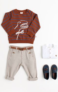 New Collection Online : Shop by look - Baby boy months - 3 years) - KIDS Toddler Boy Fashion, Little Boy Fashion, Fashion Kids, Toddler Boys, Kids Boys, Baby Outfits, Outfits Niños, Kids Outfits, Cute Baby Boy
