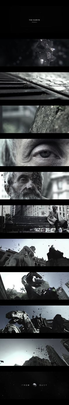 """A short film from Brazilian Director and CG Artist André Holzmeister ~ FROM DUST . """"brings us to a reflexion about our origin and destiny as a civilization. It's an allegory about what in fact unite humanity to everything that su Artistic Photography, Creative Photography, Title Sequence, Film Inspiration, Cg Artist, Film Stills, Motion Design, Motion Graphics, Cinematography"""