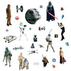 RoomMates Star Wars Classic Peel and Stick Wall Decals in Wall Stickers & Murals. Classic Wall Stickers, Wall Decor Stickers, Star Stickers, Wall Decals, Star Wars Crafts, Star Wars Decor, Kids Wall Decor, Kid Decor, Room Decor