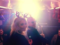December 1, 2013: Of course, Kim & Nik Check out our new version of Rockin ' Around the Christmas Tree 'train video'#antlerantics : )