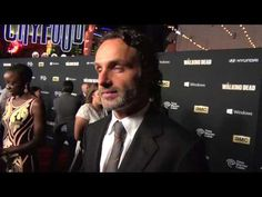 DELIGHTFUL interview with Andrew Lincoln | The Walking Dead Premiere | AfterBuzz TV Red Carpet Interviews - YouTube