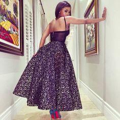 The Queen of Slay? Bonang Matheba Stuns in a Taibo Bacar S/S15 Dress!
