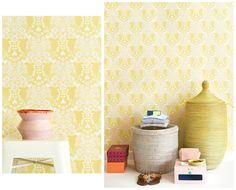 All New adult wallpaper collection Easy Up, Cream White, Kids Room, Curtains, Display, Yellow, Wallpaper, Collection, Barnrummet