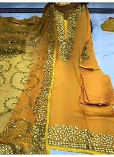 Georgette Gotta Patti Punjabi Suit