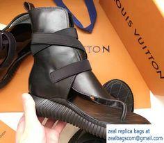 Louis Vuitton Bahia Brazil Flat Sandals Black 2017