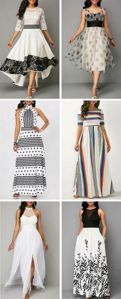 50 Fashion White Dresses For Women.