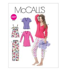 M6250, Misses'/Women'S Tops, Nightshirt And Pants