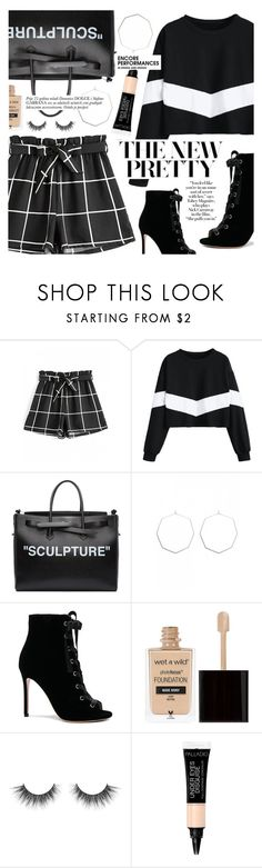 """""""The New Pretty"""" by tasnime-ben ❤ liked on Polyvore featuring Off-White, Gianvito Rossi and Wet n Wild"""