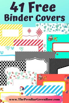 You can use these for back to school budget binder recipe binder meal planning binder life management binder home management binder or family emergency binder. The options are endless! Printable Binder Covers Free, Binder Cover Templates, Templates Free, Binder Cover Diy, Free Printables, Diy Notebook Cover, Meal Planning Binder, Budget Binder, Menu Planning