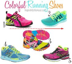 Check out these pretty Colorful #Running #Shoes for #Women #neon #bright