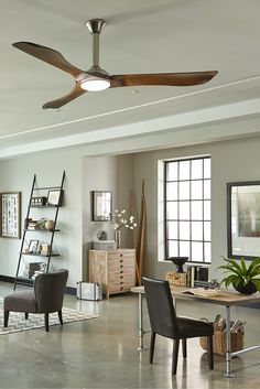 With A Clean, Modern Aesthetic And Hand Carved Balsa Wood Blades Inspired  By A Mid Century Aesthetic, The Minimalist Max Fan By Monte Carlo Has A  Dramatic ...