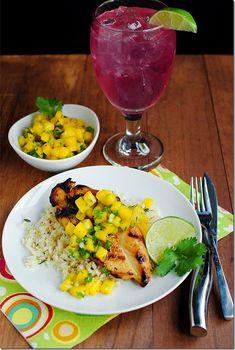 Key West Grilled Chicken with Cilantro-Lime Cauliflower rice