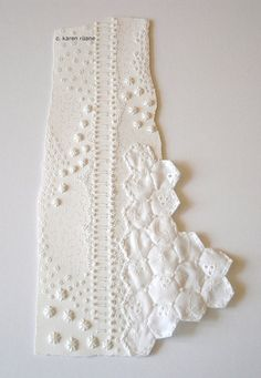 Original Embroidered Paper Art by contemporarystitches on Etsy, $69.00