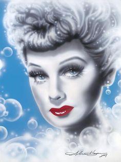 Dazzling Divas: Lucille Ball Art