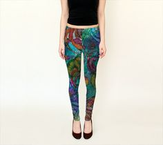 Spiraling Pool Leggings - Full and Capri Length