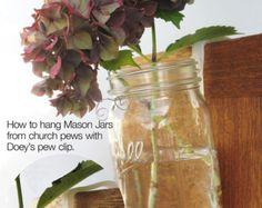 Mason jar pew clip..  genius genius