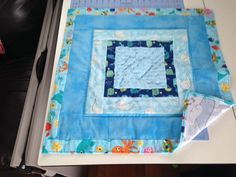Boy ocean animal hand quilted play mat