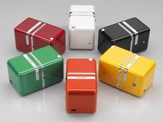 Radio Brionvega Cube TS522, 6 couleurs