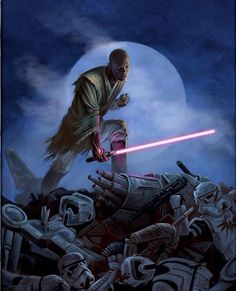 Jedi Master Mace Windu is back, check out the metal hand.
