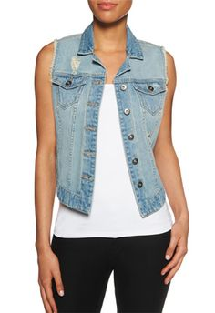 A classic denim vest never gets old!  #JustFabSweeps