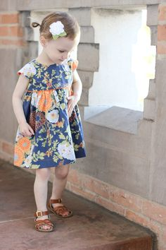 Spring Dresses :: asparagus bouquet fabric by Joel Dewberry :: geranium dress :: Delia Creates