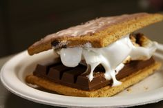 Celebrate National S'mores Day. This one I made uses 2 S'mores Pop Tarts and a Kit Kat bar.