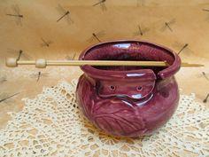 Yarn bowl (with flowers) — HaldeCraft
