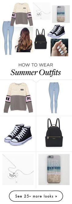 """Day 1 of school outfit"" by mrchu on Polyvore featuring Topshop, Henri Bendel, women's clothing, women, female, woman, misses and juniors"