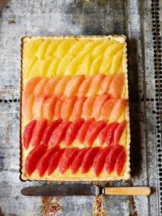 Citrus tart--ok, the good for you stuff is right there on top...the rest is just good stuff