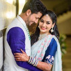 Babyblue n royalblue Bridal Poses, Wedding Poses, Saree Wedding, Wedding Shoot, Wedding Couples, Wedding Bride, Wedding Engagement, Indian Groom Wear, Indian Marriage