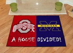 Ohio State - Michigan All-Star (House Divided) Rug