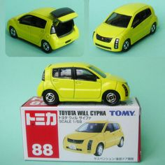 Tomica Toyota Will Cypha 88 Yellow 1 59 Scale Die Cast Car Tomy RARE | eBay